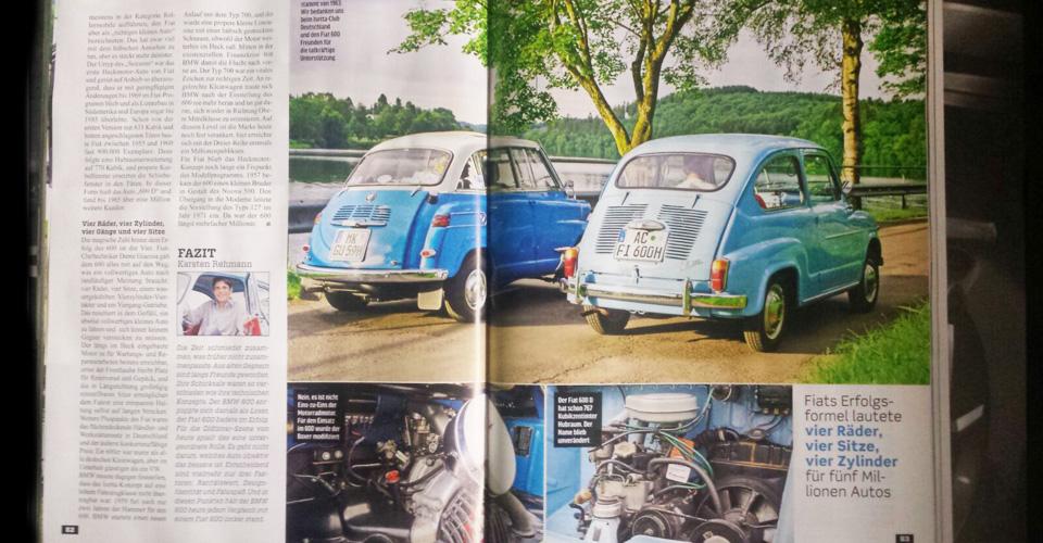 """""""Kleine Helden"""" in der Classic Cars 09/2016: BMW Isetta und Fiat 600."""